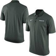 Men's Nike Green Michigan State Spartans Stadium Stripe Performance Polo