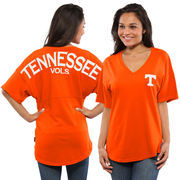 Women's Tennessee Orange Tennessee Volunteers Spirit Jersey Oversized T-Shirt