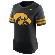 Women's Nike Black Iowa Hawkeyes Gear Up Modern Fan T-Shirt