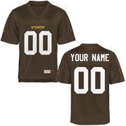 Wyoming Cowboys Personalized Football Name & Number Jersey - Brown