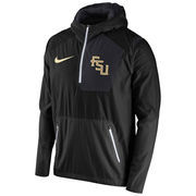 Men's Nike Black Florida State Seminoles 2016 Sideline Vapor Fly Rush Half-Zip Pullover Jacket