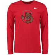 Men's Nike Red Cornell Big Red Big Logo Long Sleeve T-Shirt