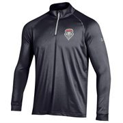 Men's Under Armour Black New Mexico Lobos 1/4 Zip Long Sleeve Tech T-Shirt