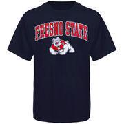 Men's New Agenda Navy Fresno State Bulldogs Arch Over Logo T-Shirt
