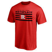 Men's Scarlet Rutgers Scarlet Knights Stripe the Birthplace T-Shirt