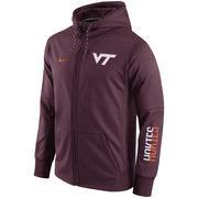 Men's Nike Maroon Virginia Tech Hokies Circuit Full-Zip Performance Hoodie