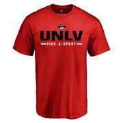 Men's Red UNLV Rebels Custom Sport T-Shirt
