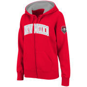 Women's Stadium Athletic Red New Mexico Lobos Arched Name Full-Zip Hoodie
