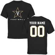 Vanderbilt Commodores Personalized Football T-Shirt - Black