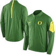 Men's Nike Apple Green Oregon Ducks 2015 Football Coaches Sideline Half-Zip Wind Jacket