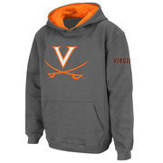 Youth Stadium Athletic Charcoal Virginia Cavaliers Big Logo Pullover Hoodie