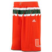 Men's adidas Orange Miami Hurricanes Premier Basketball Shorts