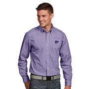 Men's Antigua Purple Kansas State Wildcats Associate Woven Long Sleeve Button-Down Shirt