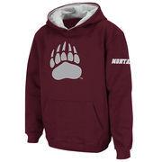 Youth Stadium Athletic Maroon Montana Grizzlies Big Logo Pullover Hoodie