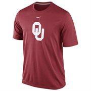 Nike Oklahoma Sooners Logo Legend Dri-FIT Performance T-Shirt - Crimson