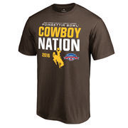 Men's Fanatics Branded Brown Wyoming Cowboys 2016 Poinsettia Bowl Bound Nation T-Shirt