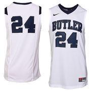 Nike Butler Bulldogs #24 Replica Basketball Jersey - White