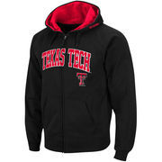 Men's Stadium Athletic Black Texas Tech Red Raiders Arch & Logo Full Zip Hoodie