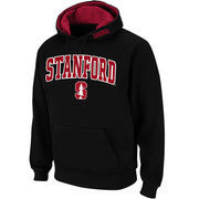 Men's Stadium Athletic Black Stanford Cardinal Arch & Logo Pullover Hoodie