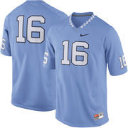 Men's Nike Carolina Blue North Carolina Tar Heels #16 Game Football Jersey