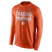 Men's Nike Orange Clemson Tigers 2016 College Football Playoff Bound Chasing Greatness Long Sleeve T-Shirt