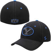 Mens BYU Cougars Zephyr Black Basic Element Flex Hat