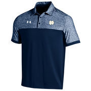 Men's Under Armour Navy Notre Dame Fighting Irish 2016 Coaches Podium Performance Polo