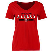 San Diego State Aztecs Women's Red Team Strong Slim Fit T-Shirt