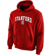 Stanford Cardinal Youth Midsized Pullover Hoodie - Cardinal