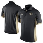 Men's Nike Black Colorado Buffaloes Team Issue Performance Polo
