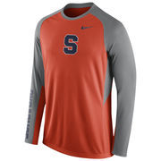 Nike Orange Syracuse Orange 2015-2016 Elite Basketball Pre-Game Shootaround Long Sleeve Dri-FIT Top