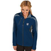 Women's Antigua Navy Butler Bulldogs Discover Full-Zip Jacket