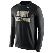 Mens Nike Black Army Black Knights Wordmark Long Sleeve T-Shirt