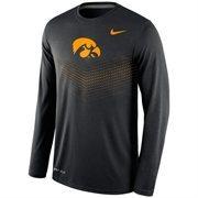 Men's Nike Black Iowa Hawkeyes 2015 Sideline Dri-FIT Legend Long Sleeve Performance T-Shirt