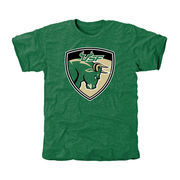 Men's Green South Florida Bulls Auxiliary Logo Tri-Blend T-Shirt
