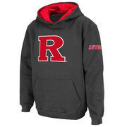 Youth Stadium Athletic Charcoal Rutgers Scarlet Knights Big Logo Pullover Hoodie