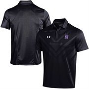 Men's Under Armour Black Northwestern Wildcats 2015 Coaches Sideline Scout Polo