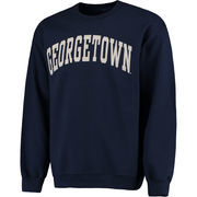 Men's Fanatics Branded Navy Georgetown Hoyas Basic Arch Sweatshirt