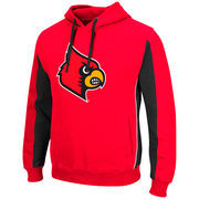 Men's Colosseum Red/Black Louisville Cardinals Thriller II Pullover Hoodie