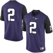 Mens TCU Horned Frogs No. 2 Nike Purple Game Football Jersey