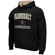 Vanderbilt Commodores Arch & Logo Mascot Pullover Hoodie - Black