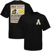 Appalachian State Mountaineers 2014 Michigan Game Day T-Shirt - Black