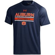 Men's Under Armour Navy Auburn Tigers Football On-Field Graphics Performance T-Shirt