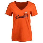 Women's Orange Virginia Cavaliers Dora Slim Fit T-Shirt