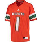Men's adidas #1 Orange Miami Hurricanes Premier Football Jersey
