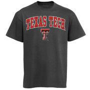Men's New Agenda Charcoal Texas Tech Red Raiders Arch Over Logo T-Shirt