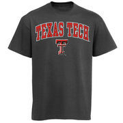 Men's New Agenda Charcoal Texas Tech Red Raiders Arch Over Logo T-Shirt