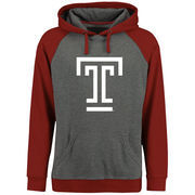 Men's Ash/Cardinal Temple Owls Classic Primary Pullover Hoodie