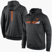 Men's Nike Black Texas Longhorns Sideline KO Fleece Therma-FIT Performance Hoodie