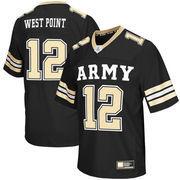 Men's Colosseum #12 Black Army Black Knights Big & Tall Football Jersey